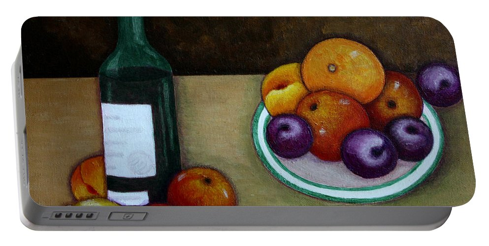 Looking For Cezanne Portable Battery Charger featuring the painting Looking For Cezanne by Madalena Lobao-Tello