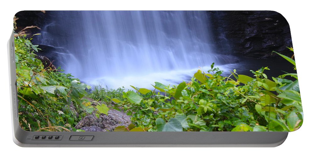 Looking Glass Falls Portable Battery Charger featuring the photograph Looking Glass Falls by Nunweiler Photography