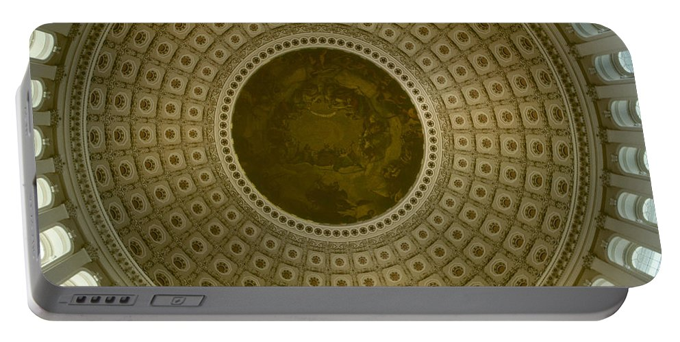 Looking Up Portable Battery Charger featuring the photograph Looking Up Capitol Dome by David Hohmann