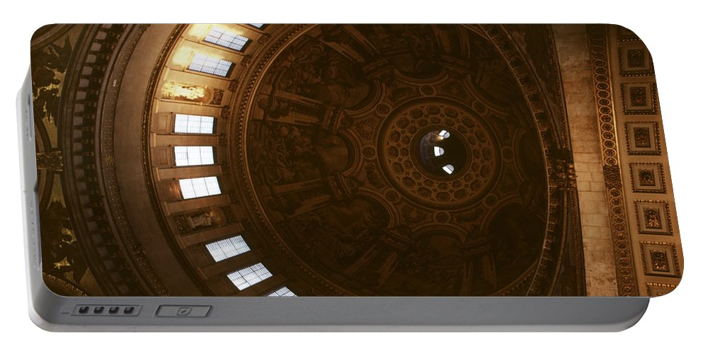 Looking Up Portable Battery Charger featuring the photograph Looking Up London Saint Paul's by David Hohmann