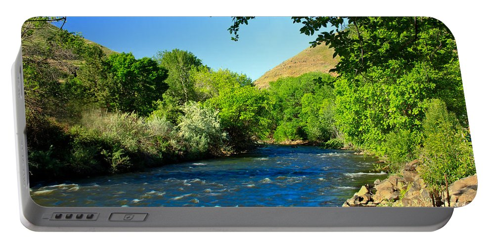 Hells Canyon Portable Battery Charger featuring the photograph Looking Up Pine Creek by Robert Bales
