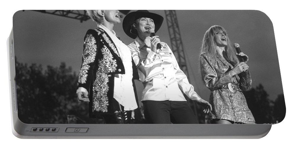 Country Music Portable Battery Charger featuring the photograph Lorrie Morgan Pam Tillis And Carlene Carter by Concert Photos