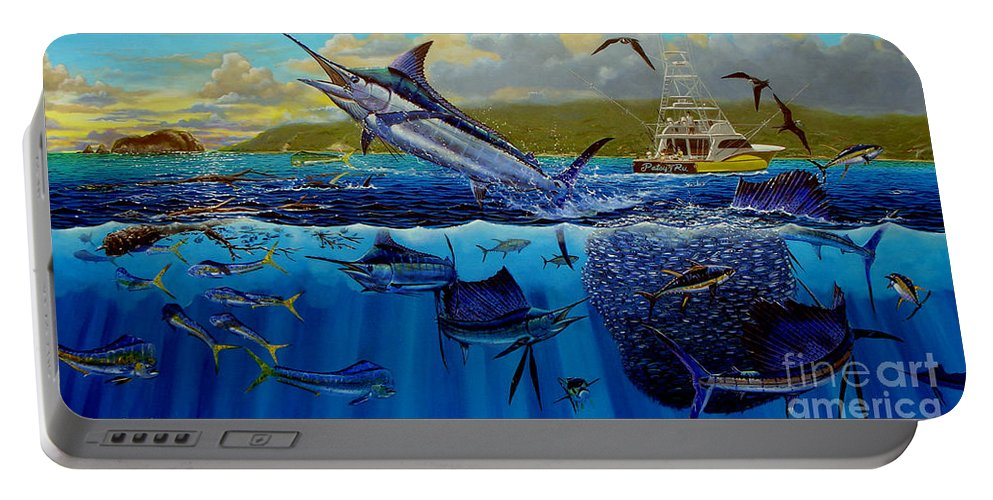 Los Suenos Portable Battery Charger featuring the painting Los Suenos by Carey Chen