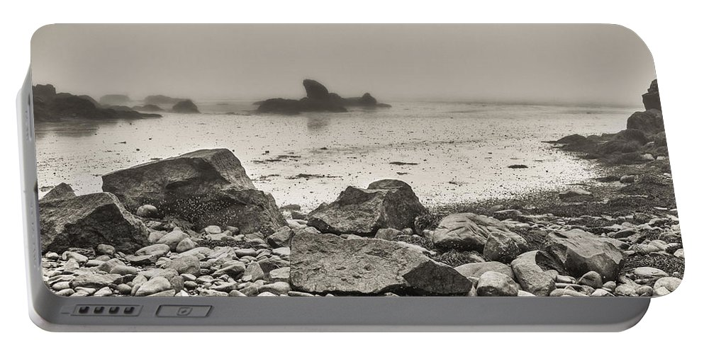Beach Portable Battery Charger featuring the photograph Lost In Fog II by Garvin Hunter