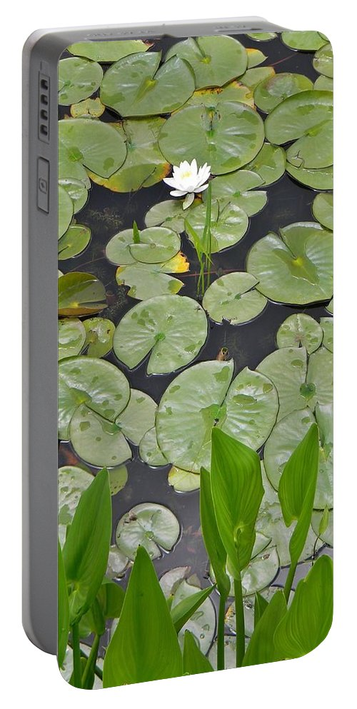 Lotus Pads Portable Battery Charger featuring the photograph Lotus Pads by Jean Goodwin Brooks