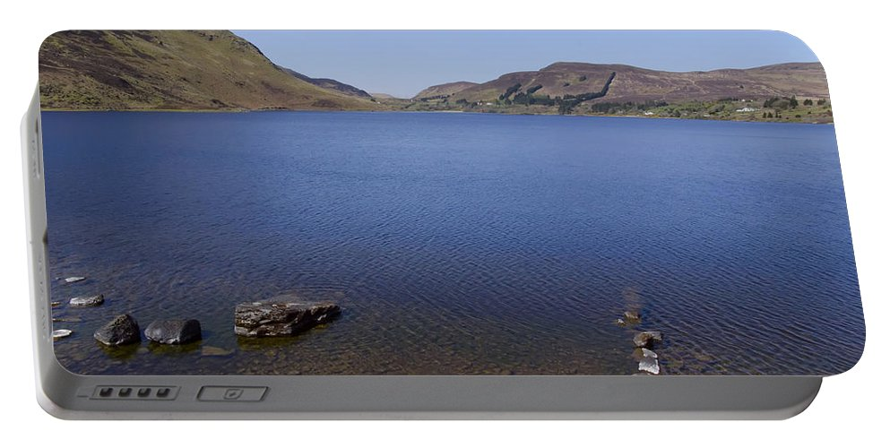 Lough Portable Battery Charger featuring the photograph Lough Talt In County Sligo Ireland by Bill Cannon