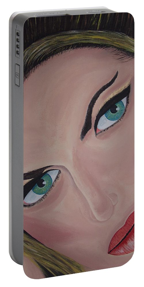 Model Portable Battery Charger featuring the painting Louise by Dean Stephens