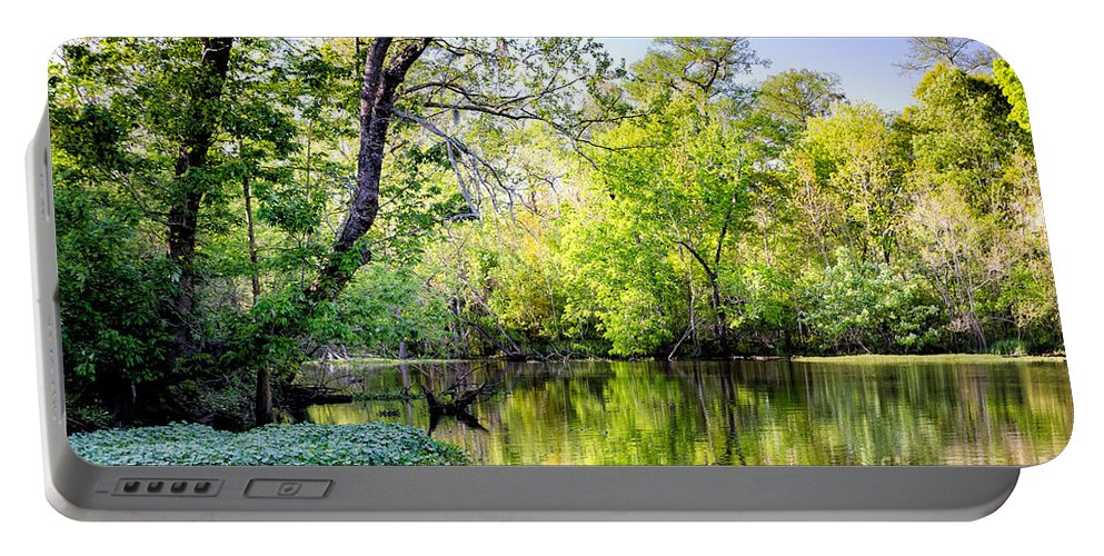 Bayou Portable Battery Charger featuring the photograph Louisiana Bayou by Kathleen K Parker