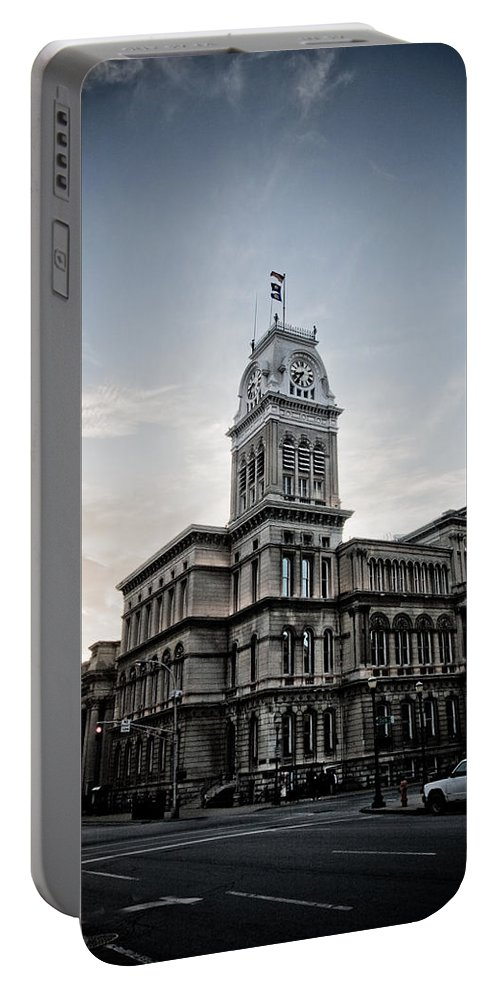Louisville Portable Battery Charger featuring the photograph Louisville City Hall by Shane Holsclaw