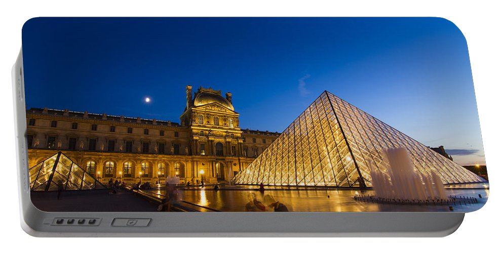 Ancient Portable Battery Charger featuring the photograph Louvre by Mircea Costina Photography