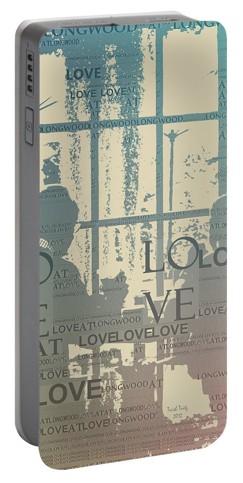 Love Portable Battery Charger featuring the photograph Love At Longwood by Trish Tritz
