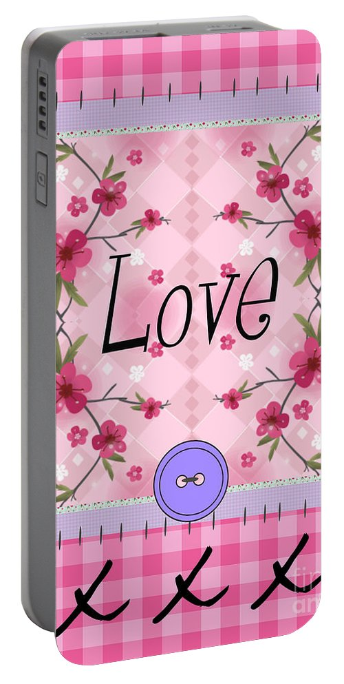 Love Portable Battery Charger featuring the photograph Love Cherry Blossom by Nina Ficur Feenan