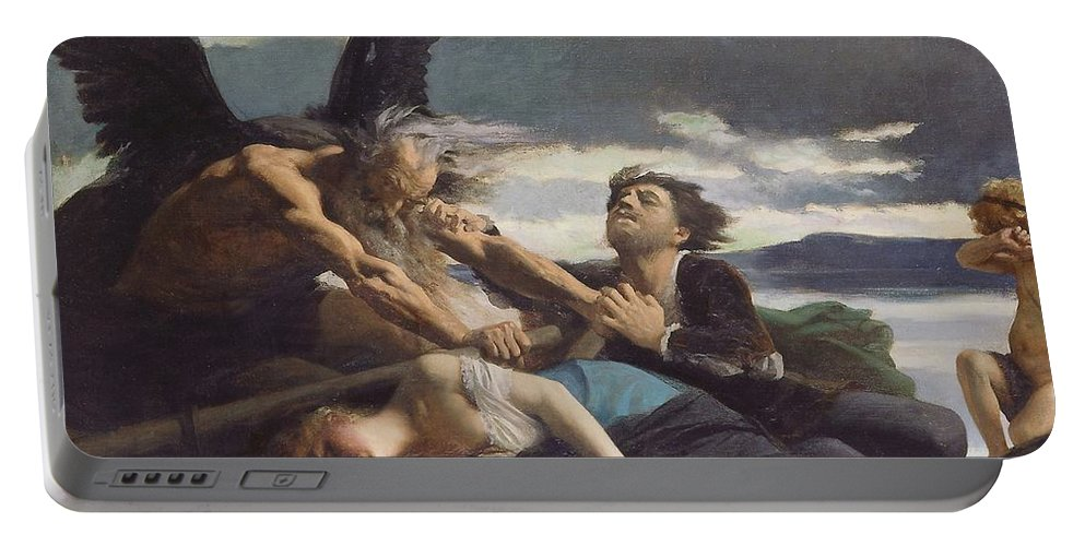 Angel Portable Battery Charger featuring the painting Love Dies In Time by Edouard Debat-Ponsan