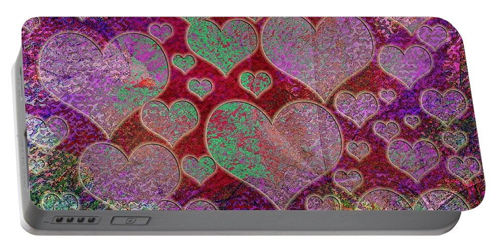 Love Portable Battery Charger featuring the digital art Love... Love... Love by Klara Acel