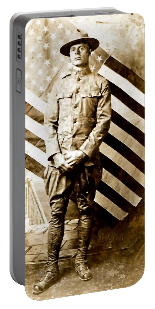 Vintage Portable Battery Charger featuring the photograph Love Of Country by Image Takers Photography LLC