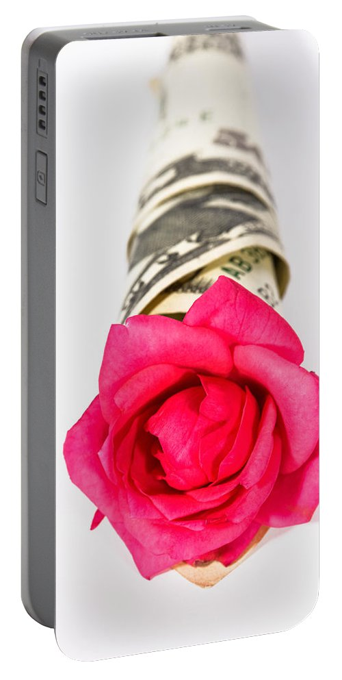 Surprise Portable Battery Charger featuring the photograph Love Of Money by Diane Macdonald
