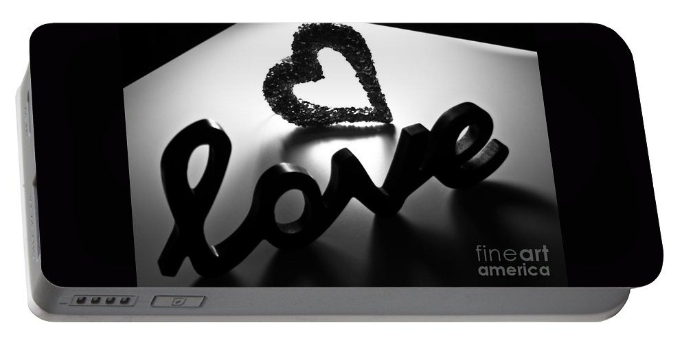 Romantic Portable Battery Charger featuring the photograph Love by Robin Lynne Schwind