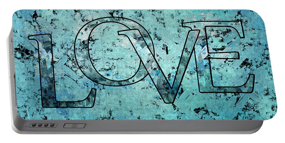 Love Portable Battery Charger featuring the digital art Love - S0301b01 by Variance Collections