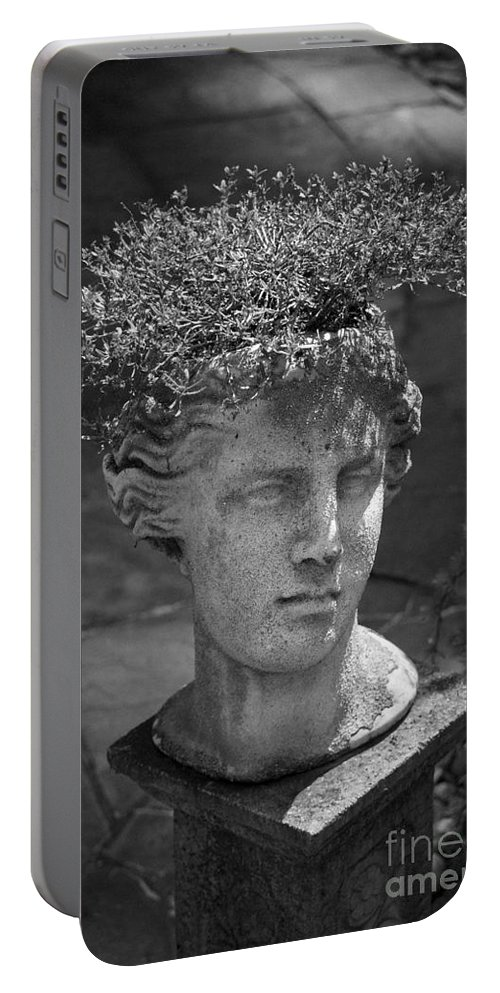 Lovely Portable Battery Charger featuring the photograph Lovely Lady Bw by Teresa Mucha