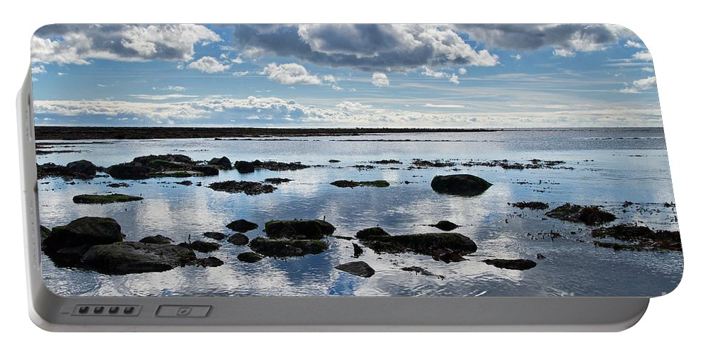 Lyme Regis Portable Battery Charger featuring the photograph Low Tide At Lyme Regis 2 by Susie Peek