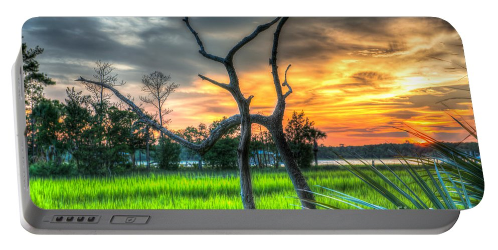 Sunset Portable Battery Charger featuring the photograph Lowcountry Charm by Dale Powell