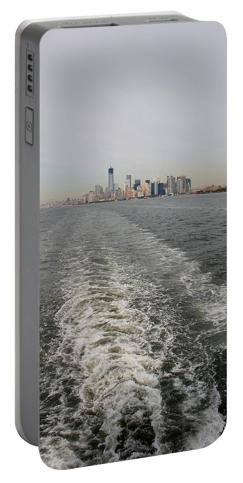 Harbor Portable Battery Charger featuring the photograph Lower New York by Rob Hans