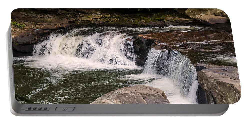 Waterfall Portable Battery Charger featuring the photograph Lower Swallow Falls 2 by Chris Flees