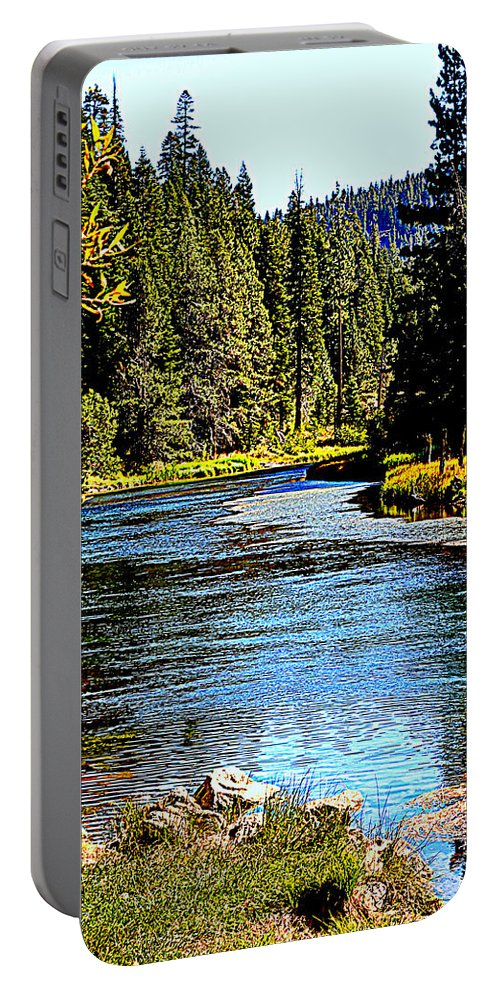 Rivers Portable Battery Charger featuring the photograph Lower Truckee River by Lynn Bawden
