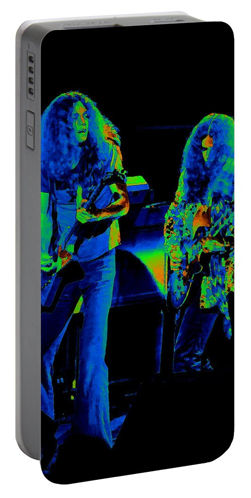 Lynyrd Skynyrd Portable Battery Charger featuring the photograph Ls Spo #21 Crop 4 In Cosmicolors by Ben Upham III