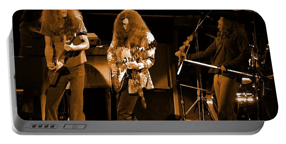 Lynyrd Skynyrd Portable Battery Charger featuring the photograph Ls Spo #21 In Amber by Ben Upham