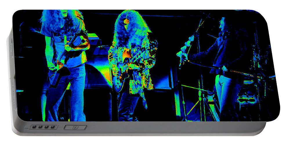 Lynyrd Skynyrd Portable Battery Charger featuring the photograph Ls Spo #21 In Cosmicolors by Ben Upham