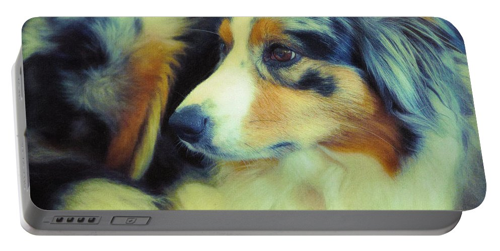 Photo Portable Battery Charger featuring the photograph Lucky Dog's Life by Jutta Maria Pusl