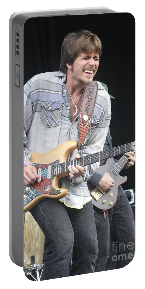 Guitar Portable Battery Charger featuring the photograph Lukas Nelson by Concert Photos