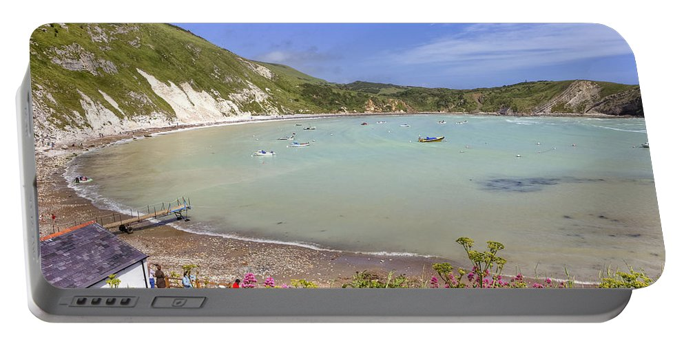 Lulworth Cove Portable Battery Charger featuring the photograph Lulworth Cove by Joana Kruse
