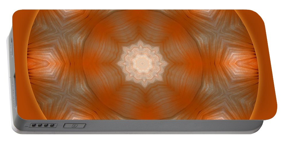 Luminescence Portable Battery Charger featuring the digital art Luminescence II by Carlos Vieira