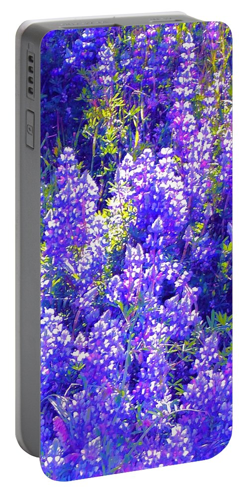 Flowers Portable Battery Charger featuring the photograph Lupine 2 by Pamela Cooper
