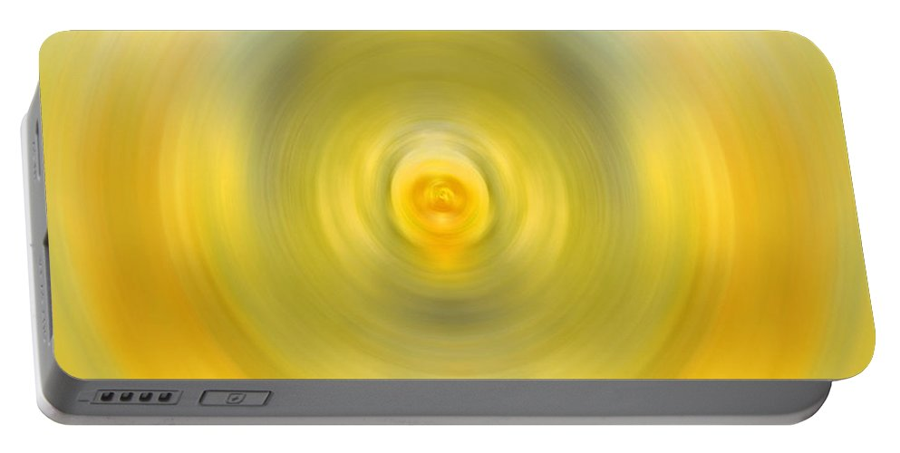 Yellow Portable Battery Charger featuring the painting Luscious Lemon - Abstract Art By Sharon Cummings by Sharon Cummings