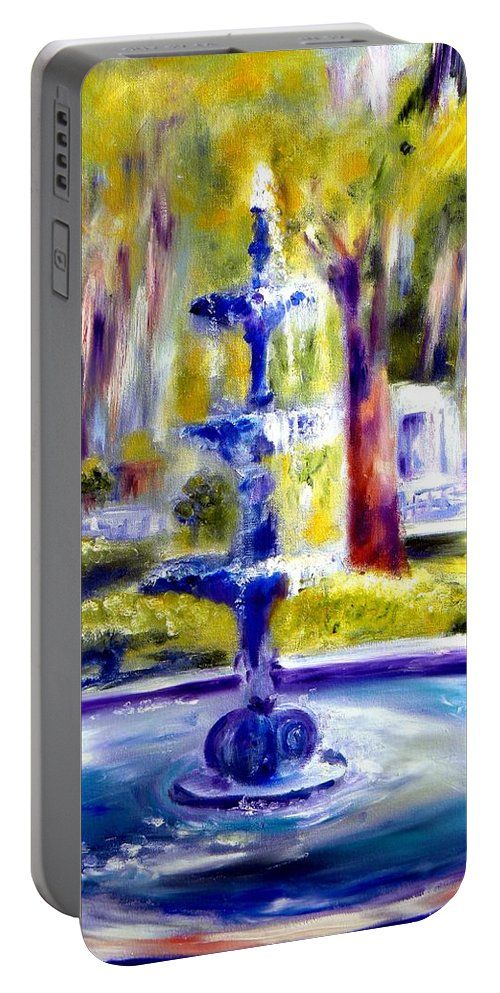 Savannah Portable Battery Charger featuring the painting Luv by Sandy Ryan