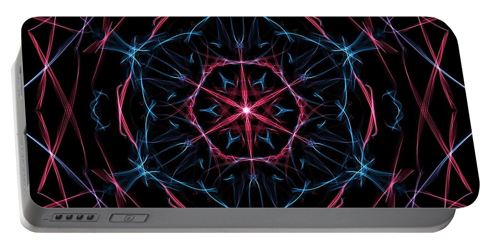 Colors Portable Battery Charger featuring the digital art Lycoris by April Patterson