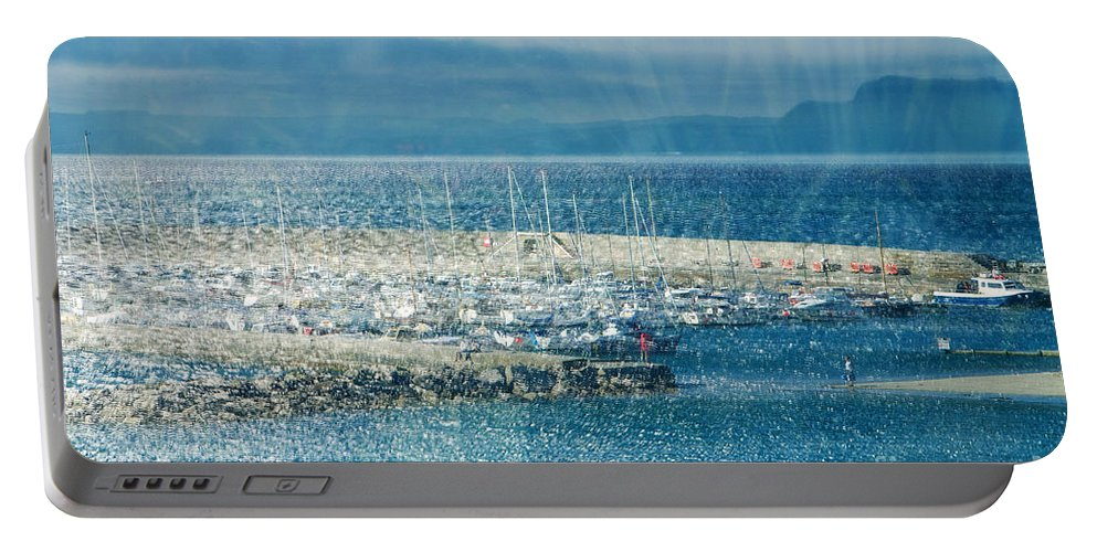 Lyme Regis Portable Battery Charger featuring the photograph Lyme Regis Under Glass by Susie Peek