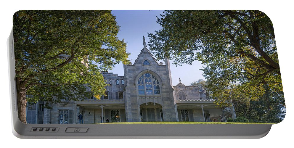 Joan Carroll Portable Battery Charger featuring the photograph Lyndhurst Mansion by Joan Carroll