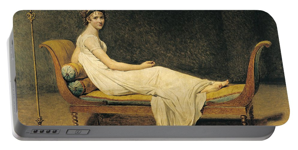 Portrait Portable Battery Charger featuring the painting Madame Recamier by Jacques Louis David