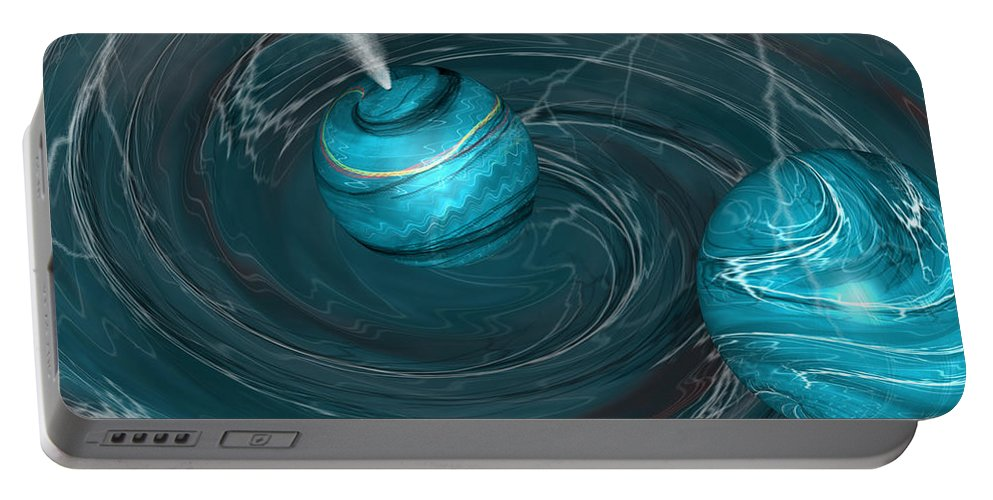 Autenrieb Portable Battery Charger featuring the digital art Maelstrom by Vincent Autenrieb