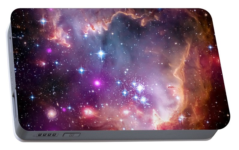 Universe Portable Battery Charger featuring the photograph Magellanic Cloud 3 by Jennifer Rondinelli Reilly - Fine Art Photography