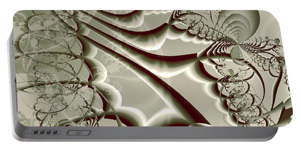 Plant Portable Battery Charger featuring the digital art Magic Beanstalk by Anastasiya Malakhova