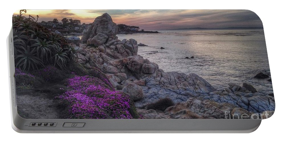 Seascape Portable Battery Charger featuring the photograph Magic Carpet In Pacific Grove by Charlene Mitchell