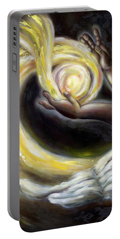 Angel Portable Battery Charger featuring the painting Magic by Hiroko Sakai