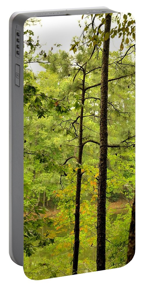 Magic Of The Golden Forest Portable Battery Charger featuring the photograph Magic Of The Golden Forest by Maria Urso