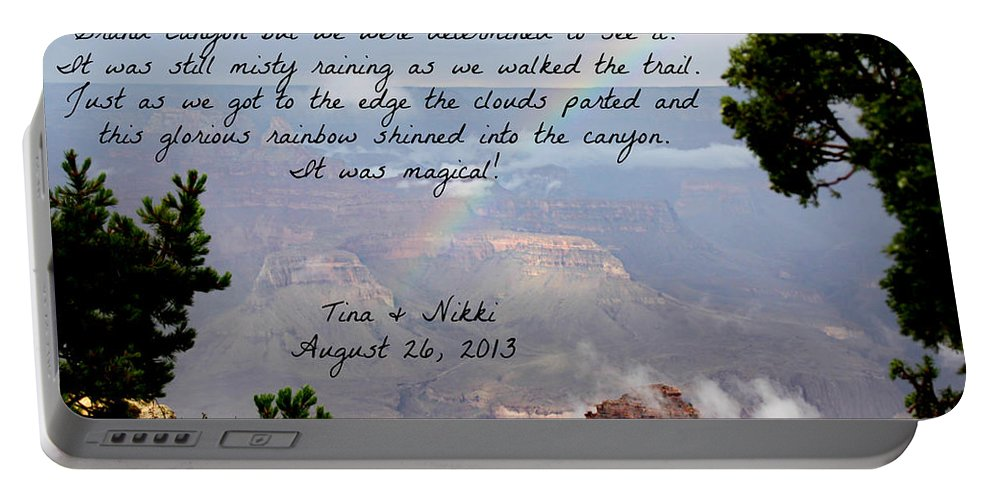 Magic Portable Battery Charger featuring the photograph Magical Moments by Tina Meador