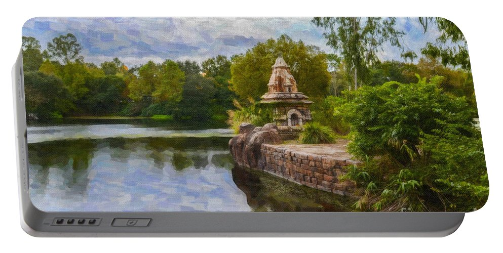 Disney Portable Battery Charger featuring the photograph Magical Pond by Dale Powell